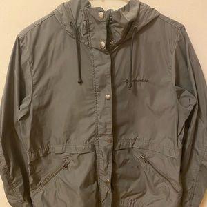 Columbia Green Rain Jacket with Hood
